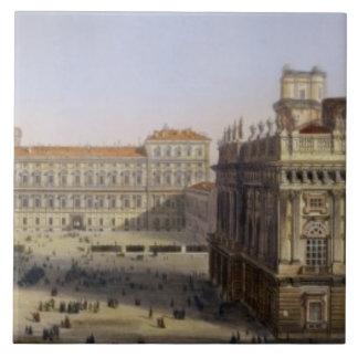 広場Castello、F. Citterio (cが刻むトゥーリン タイル