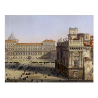 広場Castello、F. Citterio (cが刻むトゥーリン ポストカード