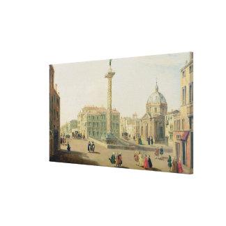 広場Colonna、ローマ キャンバスプリント