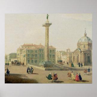 広場Colonna、ローマ ポスター