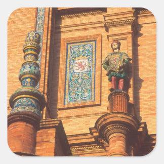 広場deエスパーニャの陶磁器の彫像の詳細 スクエアシール