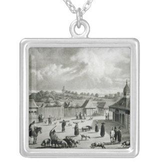 広場de San Carlos de Chiloe 1835年] シルバープレートネックレス