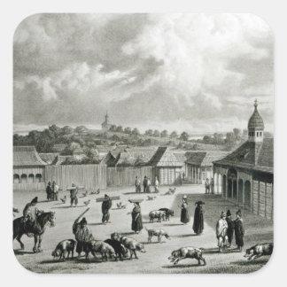 広場de San Carlos de Chiloe 1835年] スクエアシール