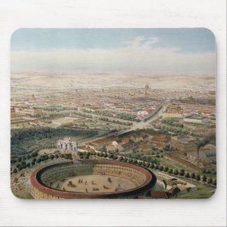 広場de Torosからのマドリードの空中写真 マウスパッド