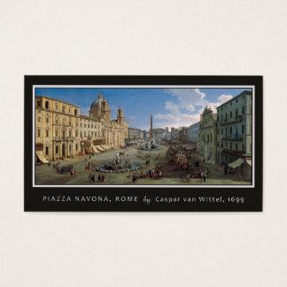 広場Navonaのローマのカスタムな名刺 名刺