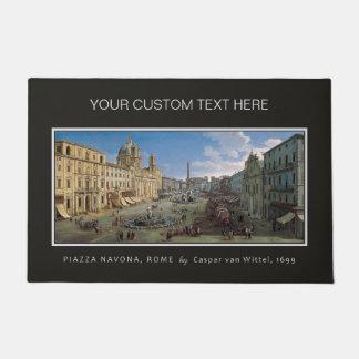 広場Navonaのローマの芸術のカスタムなドア・マット ドアマット