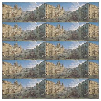 広場Navonaのローマの芸術の習慣の生地 ファブリック
