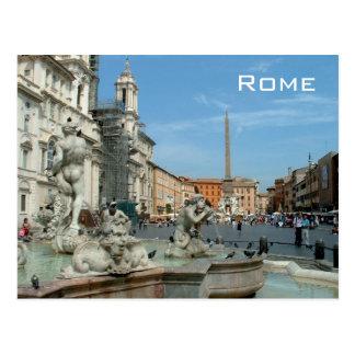 広場Navona -ローマ ポストカード