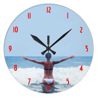 広大な海の時計 ラージ壁時計