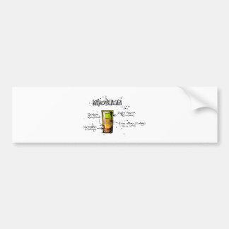 広島のカクテルのレシピ バンパーステッカー