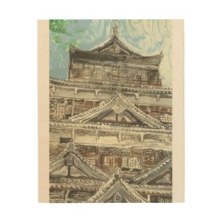 広島の城の親切なMonotypeのプリントの1つ ウッドウォールアート