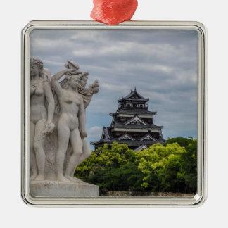 広島の城 メタルオーナメント