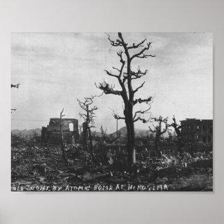 広島のWWIIの原爆の写真 ポスター