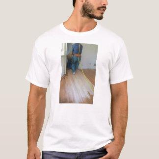 床のTシャツを紙やすりで磨く方法 Tシャツ