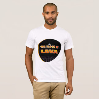 床は溶岩の非常に熱い文字のTシャツです Tシャツ