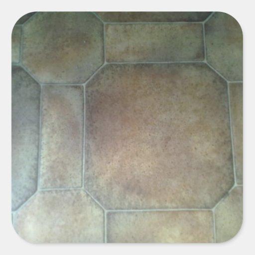 床 パターン 正方形シールステッカー
