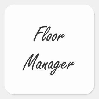 床|マネージャー|芸術的|仕事|デザイン 正方形シール・ステッカー