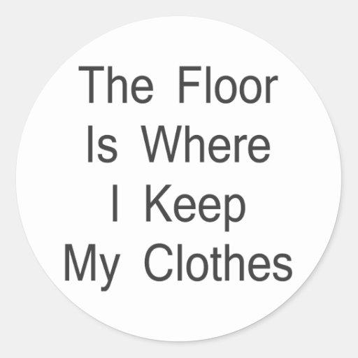 床 一方、 I 保って下さい 私 衣服 丸形シールステッカー