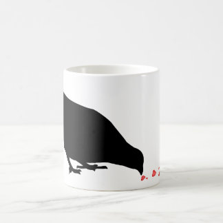 序列。 クロドリ及び赤い中心 コーヒーマグカップ