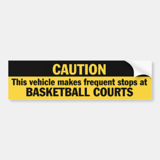 度々行って下さい停止(バスケットボール)に バンパーステッカー