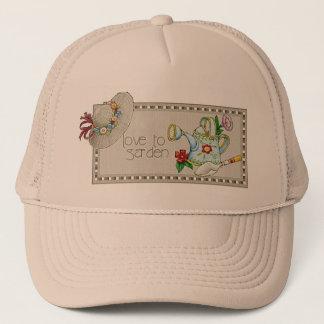 庭いじりをする愛帽子 キャップ