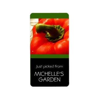 庭から選ばれる台所野菜 ラベル