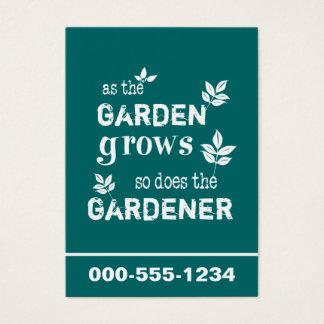 庭が庭師を育てたり従ってするように 名刺