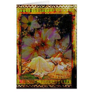 庭で眠った カード