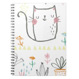 庭のかわいい子猫 ノートブック