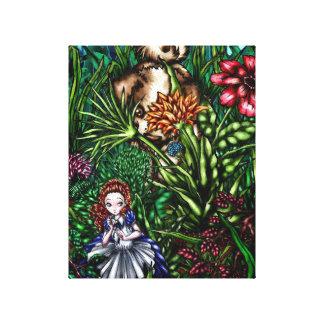 庭のアリス キャンバスプリント