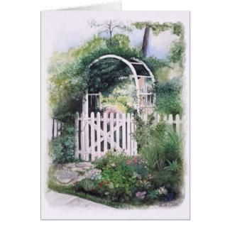 庭のアーチのブランクNotecards カード