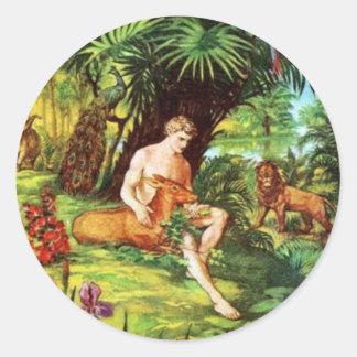 庭のエデンアダム ラウンドシール
