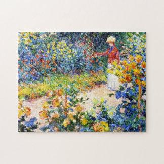庭のクロード・モネの女性の絵画 ジグソーパズル