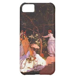 庭のクロード・モネ//の女性 iPhone5Cケース