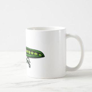 庭のグリーンピースのポッド コーヒーマグカップ