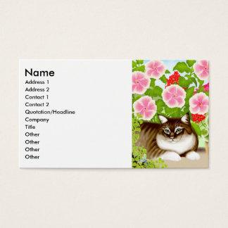 庭のジャングルのプロフィールカードのトラネコ 名刺