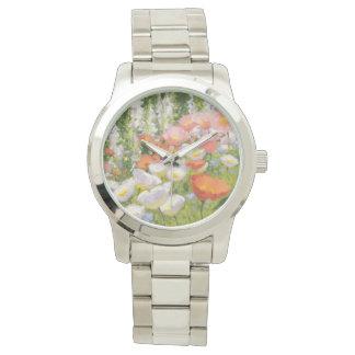 庭のパステル 腕時計