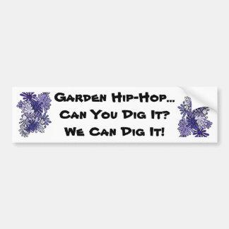 庭のヒップホップの歌 バンパーステッカー