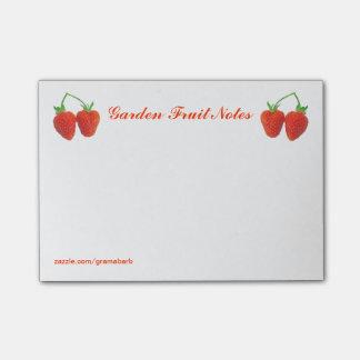 庭のフルーツのノート ポストイット