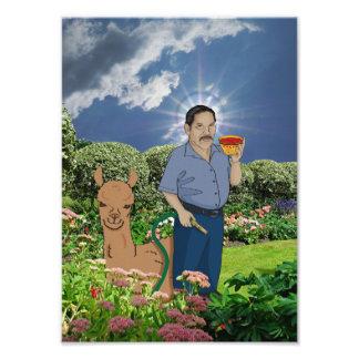 庭のプリントの聖者Luis フォトプリント