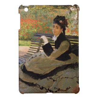 庭のベンチのカミーユMonet -クロード・モネ iPad Miniケース