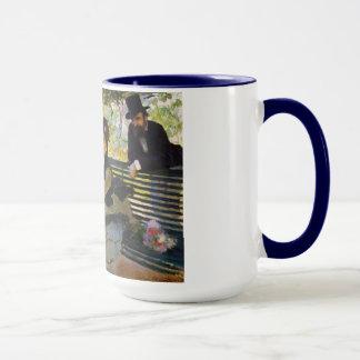 庭のベンチクロード・モネのカミーユMonet マグカップ