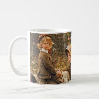 庭のベンチ1882年 コーヒーマグカップ