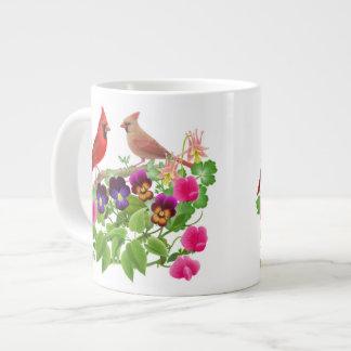 庭のマグの(鳥)ショウジョウコウカンチョウ ジャンボコーヒーマグカップ