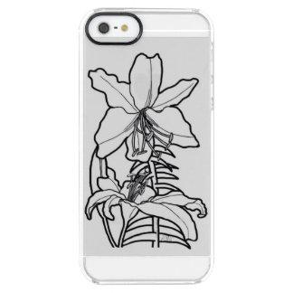 庭のユリの花束 クリア iPhone SE/5/5sケース