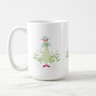 庭の友情の花のマグ コーヒーマグカップ