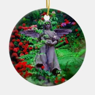 庭の天使 セラミックオーナメント
