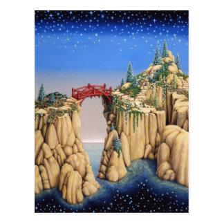庭の崖 ポストカード