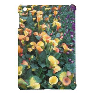 庭の幸福: 花の金黄色いチャームのおもしろい iPad MINIケース
