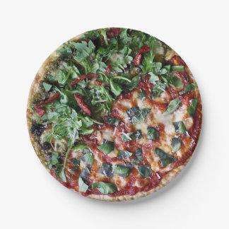 庭の新しいピザ紙皿7つ ペーパープレート